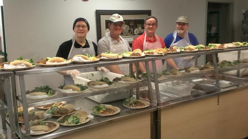 Serving the homeless at Loaves and Fishes Cafeteria